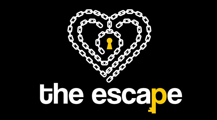 the escape Logo in Herz-Form