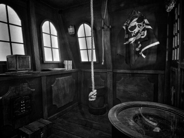 Koje eines Käpitäns auf einem Piratenschiff